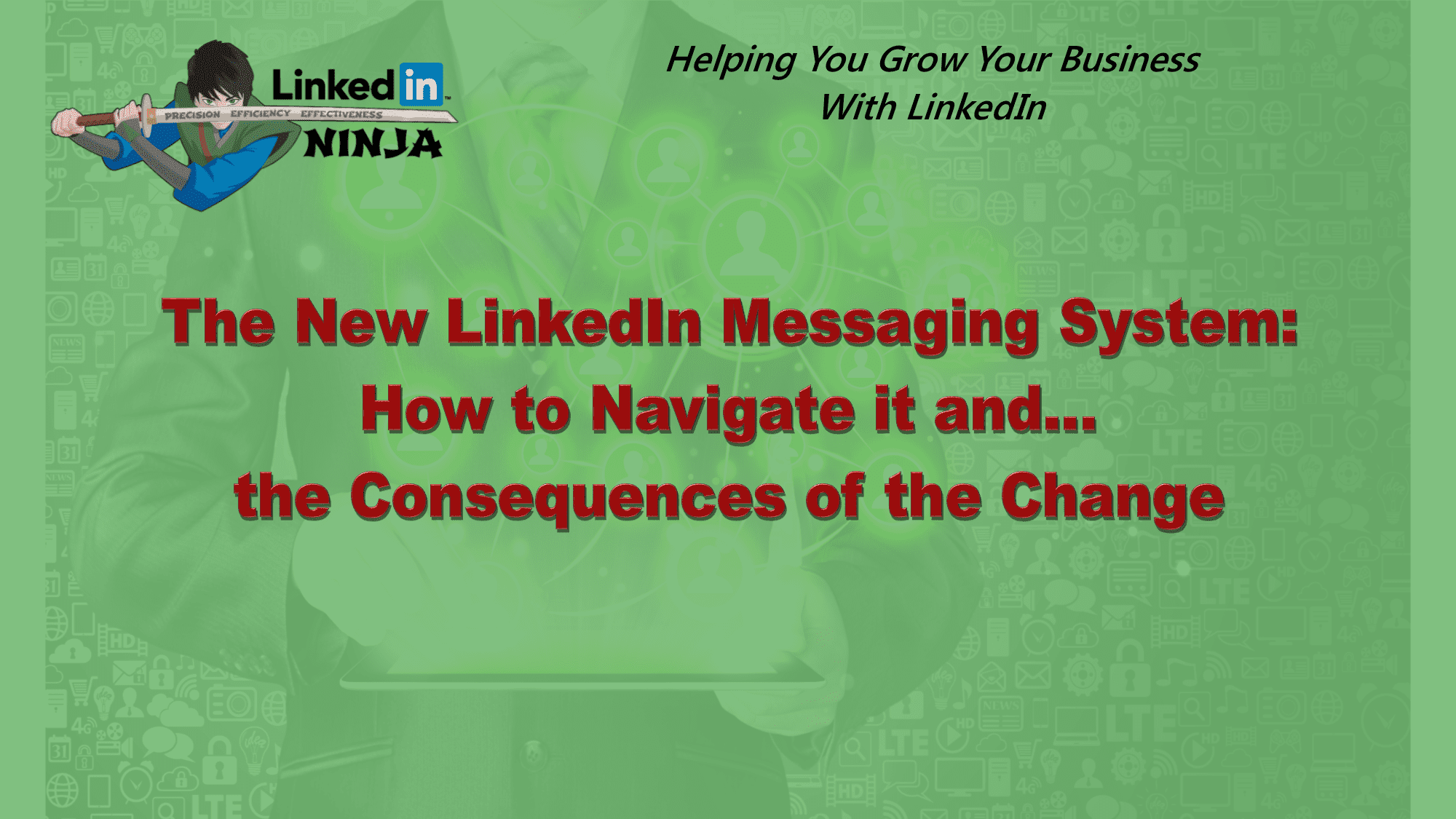 LinkedIn Ninja Background with Title